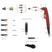 Tocha de corte a gás industrial LT50 com kit de solda