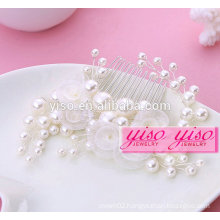 hot sale gift ladies floral bride alloy fashion girl hair combs
