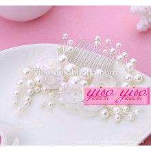 Горячие продажи дамы цветочные невесты сплава моды девушка волосы расчески