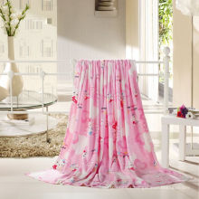 Soft Printed Coral Fleece Blanket