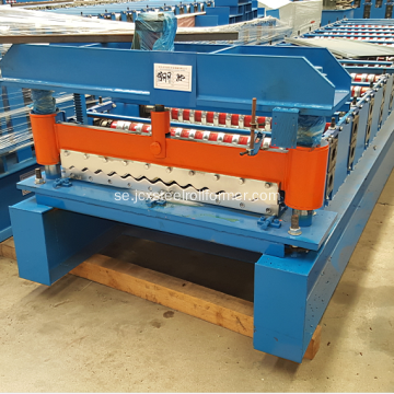 PPGI Stål Corrugated Roofing Sheet Roll Making Machine