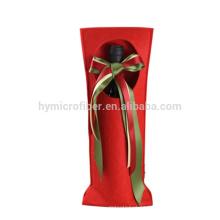 La bolsa de asas del fieltro del vino de encargo de la venta caliente del logotipo