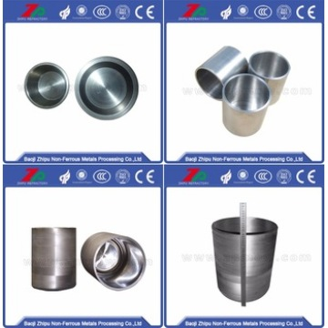 99,95% Purity Tungsten Crucible untuk Sapphire Crystal