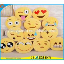 Hot Selling de alta qualidade Emoji emo emoticon emoção facial travesseiro de pelúcia