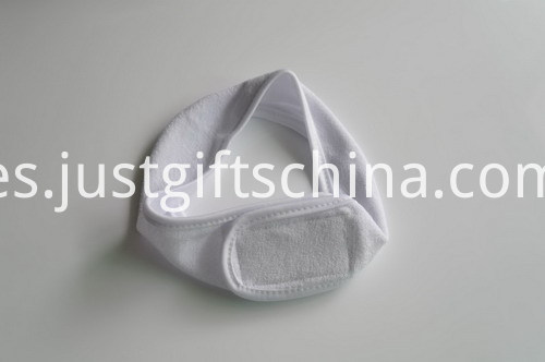 100% Polar Fleece Headbands w Embroidered Logo - White