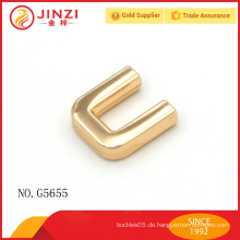Goldene Handtasche Metallbesatz für Handtasche dekoratives Metall