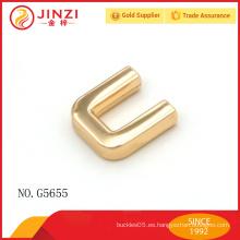 Recorte de metal dorado para el metal decorativo del bolso