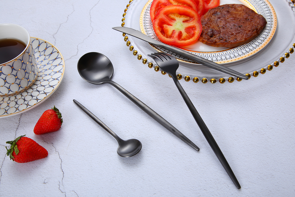18 10 Stainless Steel Cutlery With Customized Logo High Grade Hotel Flatware Set 2