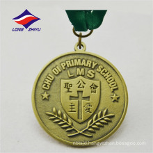 Wholesale cheap custom for Primary School cross olive leaf medal
