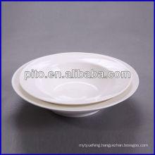 P&T porcelain factory, salad soup plate, round deep plates