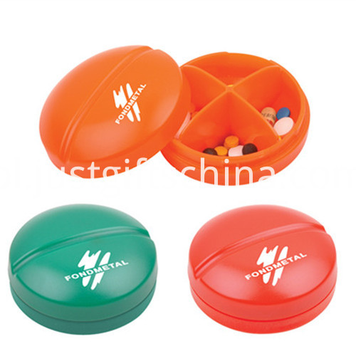 Promotional Plastic Round Shape Pill Box