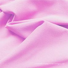 Tissus extensibles de vêtements DTY en polyester rose bébé
