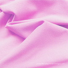 Baby Pink Polyester DTY Clothing Stretch Fabrics