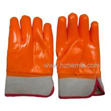 3 Schichten getaucht Fluoreszierende PVC Handschuhe Isolierte Industrie Arbeitshandschuh