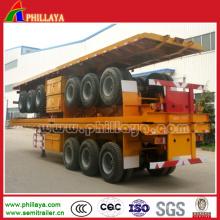 Pritsche Auflieger für den Containertransport