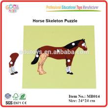 Montessori Puzzle - Caballo y Esqueleto