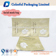 Top sale matt finished plastic custom printed aluminum foil pouch bag for facial mask