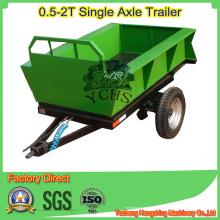 Remolque de descarga automática para pequeño tractor 20HP