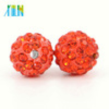 IB00120 Hyacinth Hot Selling Fashion Loose Shamballa Crystal Pave Clay Beads for Clothing Accessories