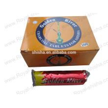 charbon de bois doré shisha activés