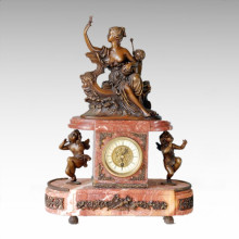 Clock Statue Lady Boat Bell Bronze Sculpture Tpc-019 (J)