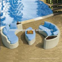 Ensemble de canapé en rotin design simple moderne