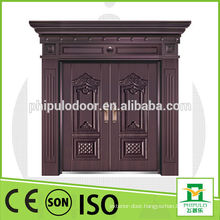 Sun proof good quality villa copper door with oil painting