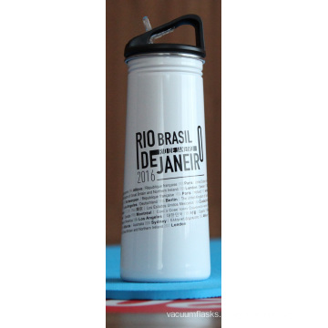 Stainless Steel Single Wall Outdoor Sports Water Bottle