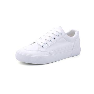 Women Low Top Canvas Shoes White