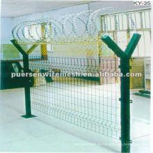 Electro galvanizado soldado malla de alambre de cerca, cerca del aeropuerto