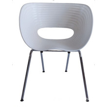 Fahion Steel Dining Outdoor Eames Plastic Metal Cafe Chair (WLF-DC080)