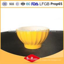 Tazón de cerámica de 5 pulgadas con tiras verticales para BS120423A