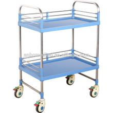 stainless steel instrument trolley with safety edges