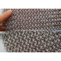 Stainless steel chain mail curtain