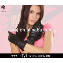 Gants en cuir noir et noir de haute qualité avec laine