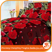 China printed 3d microfiber fabric for bed sheet