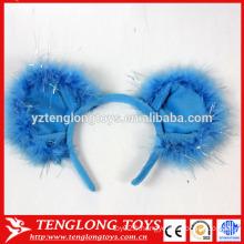 Bandes de cheveux populaires en peluche de Halloween, magnifiques bandes de cheveux bleus pour filles