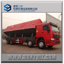 32cbm 50t 60t Sinotruk HOWO 8X4 Camión volquete lateral pesado