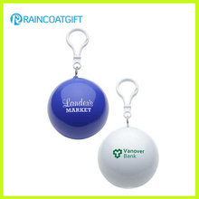 Benutzerdefinierte Logo gedruckt PET Einweg Regenmantel / Poncho Ball