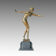 Dancer Statue Bikini Lady Bronze Sculpture, D. H. Chiparus TPE-231