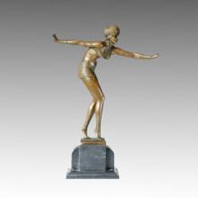 Статуэтка танцовщицы Бикини Леди Бронзовая скульптура, DH Chiparus TPE-231