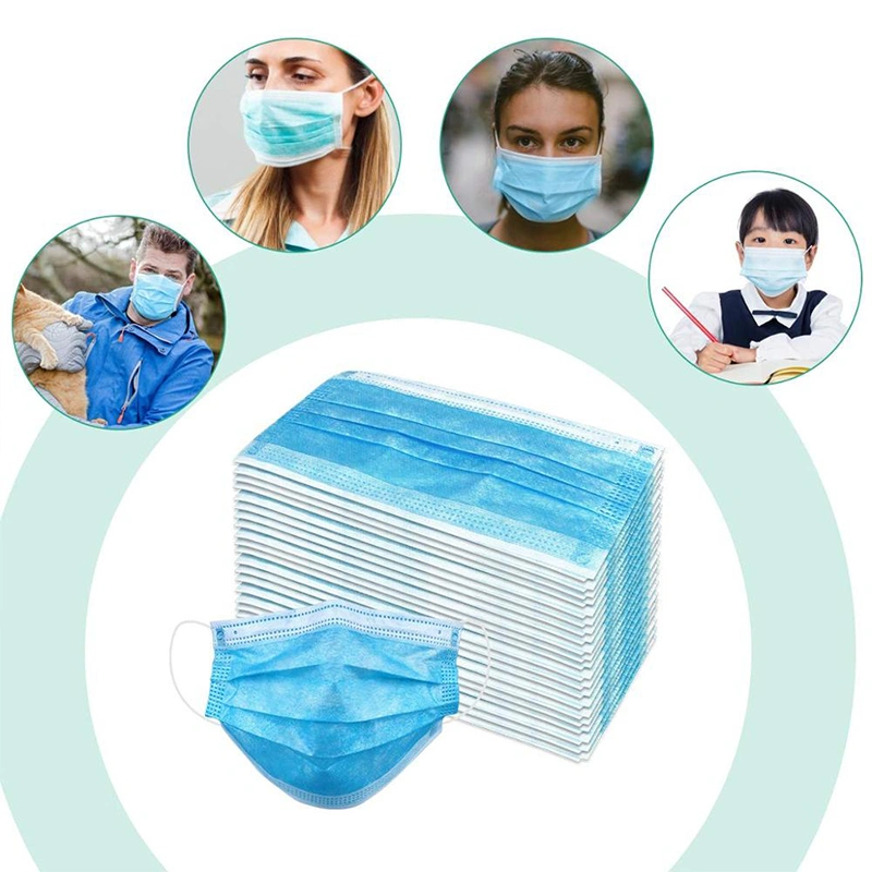 3 Disposable Three Ply Surgical Non Woven Medical Masks For Hospital Clinic Face Mask