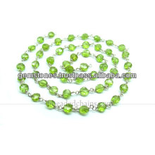 Wholesale Sterling Silver Peridot Gemstone Beaded Chains, Wholesale Gemstone Jewelry Manufacturer
