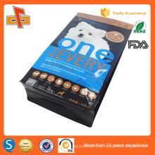 Impresión de plástico colorido gusset fondo plano de aluminio hoja de aluminio cremallera bolsa de alimentos bolsa de embalaje 3kg 5kg