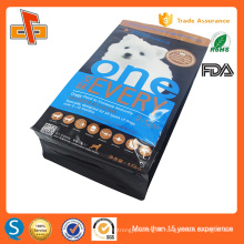 colorful printing plastic gusset flat bottom aluminum foil zipper dog food bag packaging 3kg 5kg