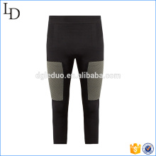 Cropped performance compression tights custom fitness running pants