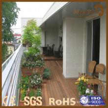 Terraza de balcón sacada WPC Tarima de compuesto de madera de plástico