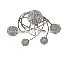 Гуандун Новый современный кристалл круглый подвесной свет спутниковый подвесной светильник