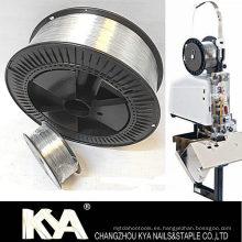 103028g25 Alambre de costura galvanizado para hacer grapas, clip de papel