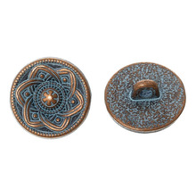 OEM for Vintage Metal Buttons Metal Round Antique Button With Flower Pattern export to Netherlands Exporter